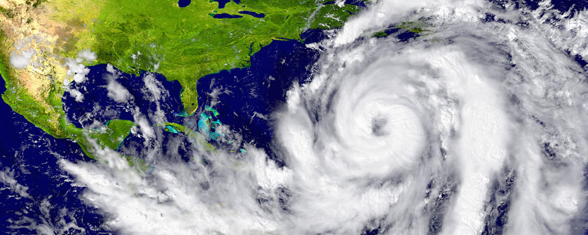 a satelite image of a hurricane off the coast of the United State