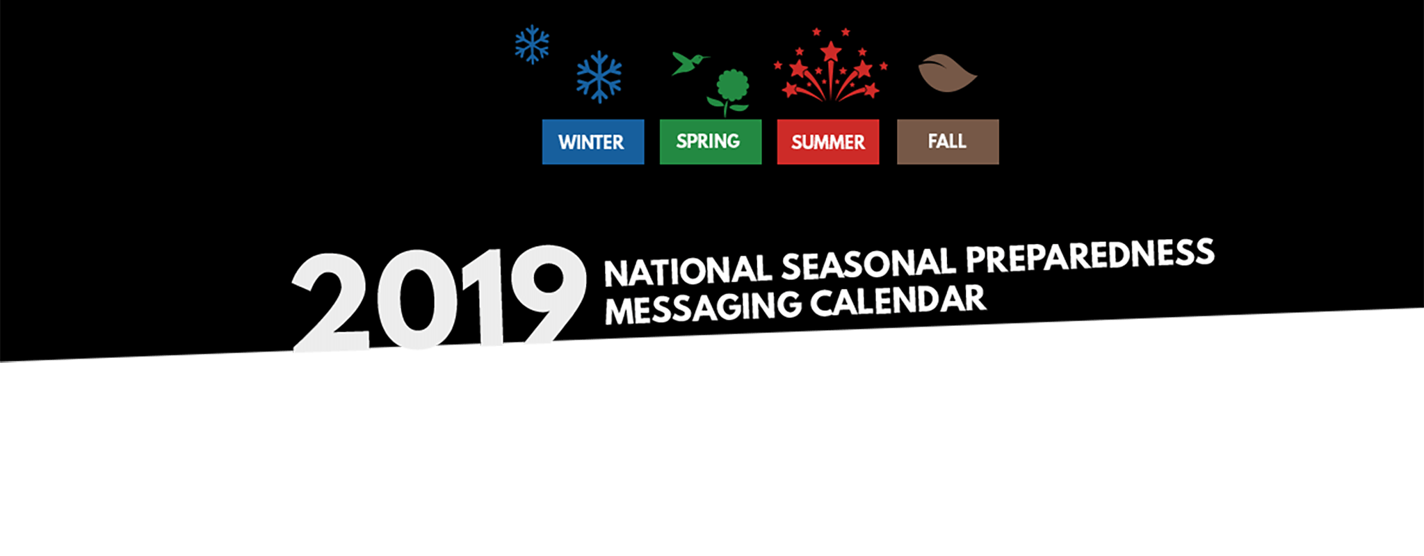 2019 National Seasonal Preparedness Messaging Calendar