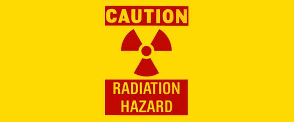 Radiological Dispersion Device - Caution Radiation Hazard symbol