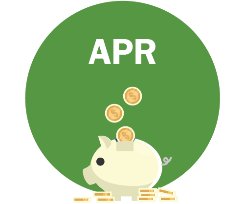 APR Graphic - piggy bank with coins going in it and coins on the ground√Graphic - piggy bank with coins going in it and coins on the ground