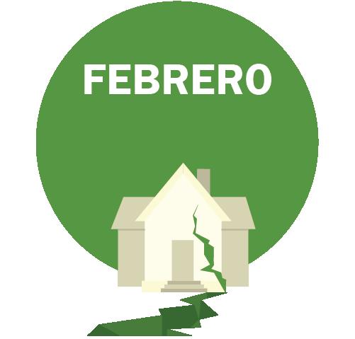 FEBRERO Gráfico – edificio y piso con una grieta