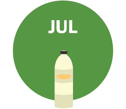 JUL Graphic - water bottle