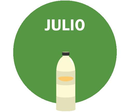 JULIO Gráfico – botella de agua