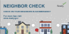 houses in the snow with speech bubbles coming from them. Neighbor check. Check on your neighbors in an emergency. For more tips visit www.ready.gov.
